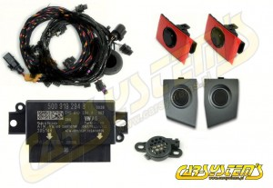 Audi A3 8V - APS+ Audi Parking System - Front UPGRADE KIT w. OPS  - Stone Gray Sensor Holder - 5Q0919294B
