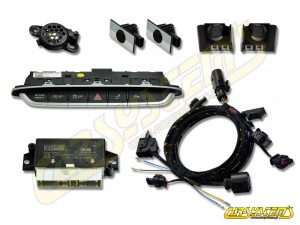 New - Audi TT-  8S0 - APS+ Audi Parking System - Front UPGRADE KIT w. OPS  - Black Gloss Sensor Holder - 5Q0919294