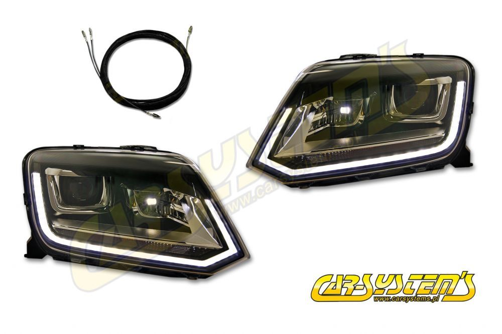 VW Amarok 2H0 OEM Bi- Xenon + LED DRL Headlights for UK and