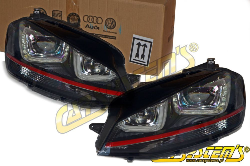 vw golf gti 7 5q oem bi- xenon + led drl dynamic ... h6054 bi xenon wiring diagram