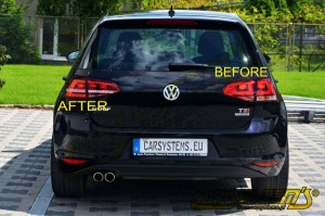 Golf 7 - Tinted LED GTI Tinted Taillights - NO FOG LIGHT - Plug&Play