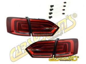 Jetta MK6 LED Taillights + 4x Adapters -  For UK and RHD markets