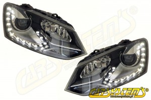 Polo 6R OEM Bi- Xenon +  LED DRL - 6R2941039D & 6R2941040D for UK and RHD market