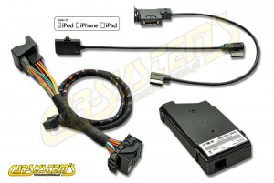 Skoda MEDIA-IN - MDI KIT + iPod / iPhone 5 Leads Adpater - Lightning - 5N0035554G - Retrofit - for cars w. AUX input
