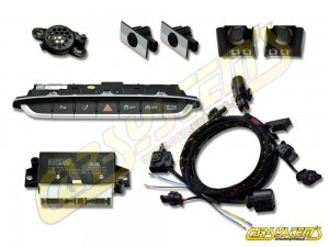 New - Audi TT-  8S0 - APS+ Audi Parking System - Front UPGRADE KIT w. OPS  - Black Gloss Sensor Holder - 5Q0919294 - For UK and RHD Markets