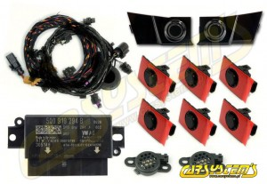 Audi A3 8V Cabrio - APS+ Audi Parking System - Front and Rear - 5Q0919294B - Black Gloss Sensor Holder
