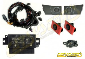 Audi A3 8V Cabrio - APS+ Audi Parking System - Front UPGRADE KIT w. OPS  - Stone Gray Sensor Holder - 5Q0919294B
