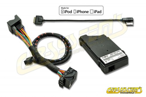 VW MEDIA-IN +  iPod iPhone adapter - Kit for cars with AUX-IN - Retrofit - 5N0035342E / 5N0035342F