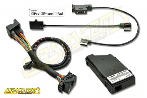 VW MEDIA-IN - MDI KIT + iPod / iPhone 5 Leads Adpater - Lightning - 5N0035554G - Retrofit - for cars w. AUX input