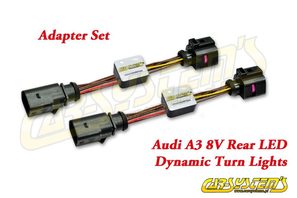 Details about Audi A3 8V - Semi Dynamic LED Adapter Set - Rear LED Dynamic  Turn Plug & Play