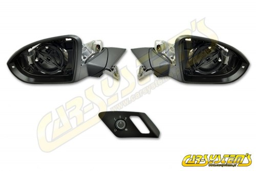 VW Golf Mk7 Complete Set Electric Folding Mirrors - Retrofit Kit - Ambient lighting - RHD