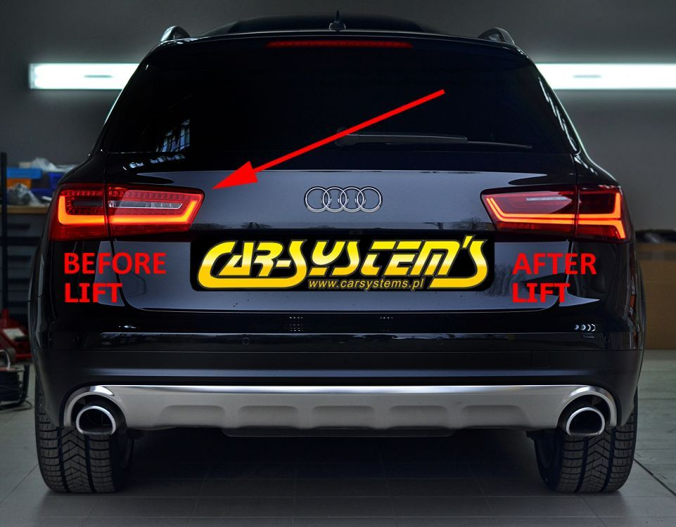 audi a6 4g allroad dynamic tail lights led adapter kit. Black Bedroom Furniture Sets. Home Design Ideas