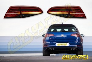 Golf 7.5 - Facelift Tinted LED Matrix Taillights SET - EU -