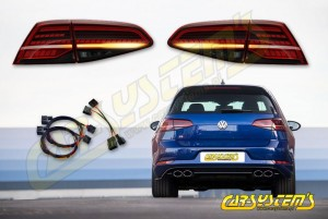 Golf 7.5 - Facelift Tinted LED Matrix Taillights SET with adapters - EU -