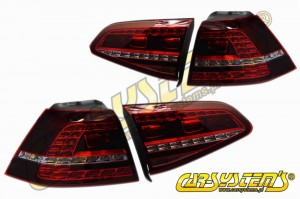 VW Golf 7 - Tinted LED Taillights - GTI Look - Plug&Play
