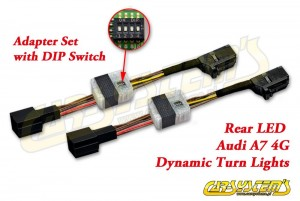 Audi A7 4G - Semi-Dynamic Tail Lights LED Adapter Kit - Rear LED Dynamic Turn Lights - with DIP SWITCH (speed control)