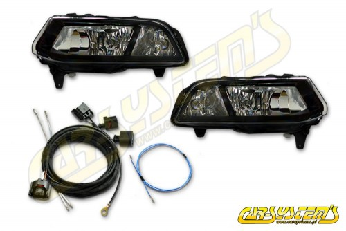 VW Polo 6C - Fog Light + DRL Adaptive Daytime Running Lamps with adapter - Retrofit -