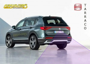 New Seat TARRACO -  Low Line Rear View Camera with Guidance Line + wiring harness