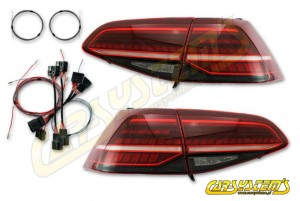 Golf 7 - Facelift Tinted LED Matrix Taillights - Retrofit SET with adapters - for UK and RHD markets -