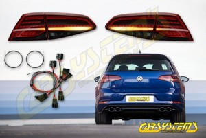 Golf 7 - Facelift Tinted LED Matrix Taillights - Retrofit SET with adapters - LHD -