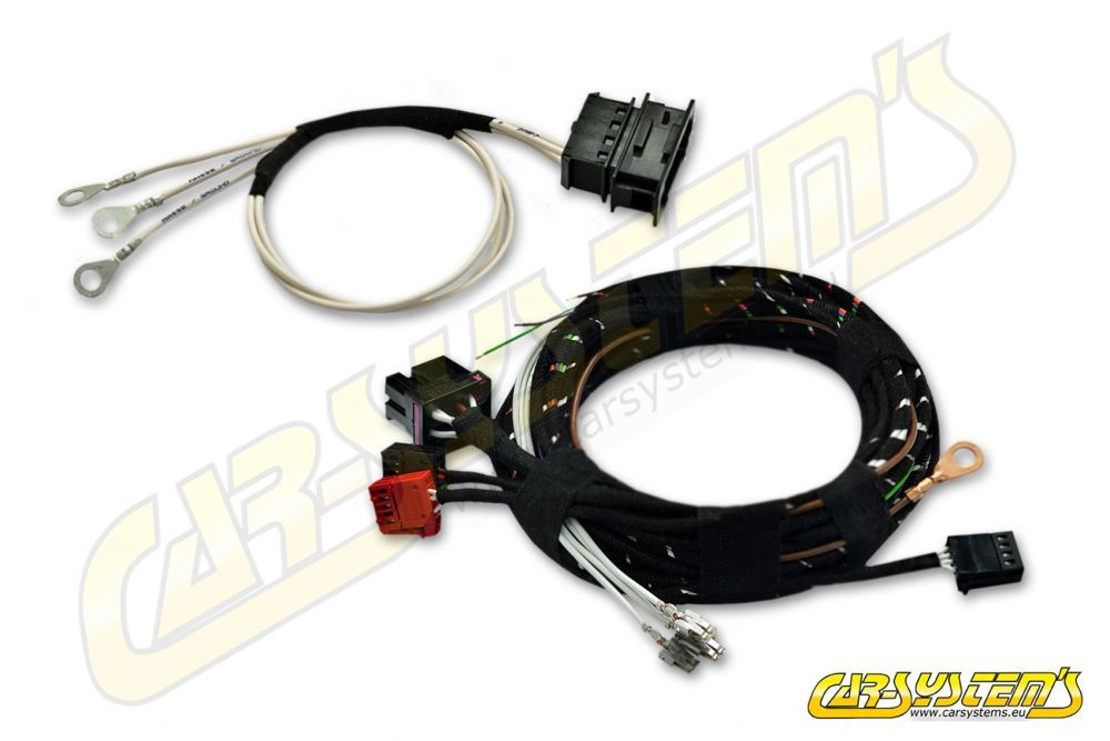 Skoda Kodiaq - Rotative Tow Bar - wire harness on tow license plate bracket, tow cable, tow lights,