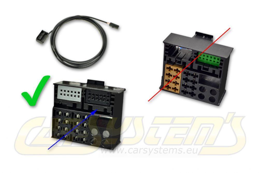 Wiring + Microphone 3B0035711B for VW RNS 315