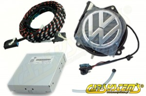 VW EOS - Rear Emblem High Line Camera KIT with Guidance Line