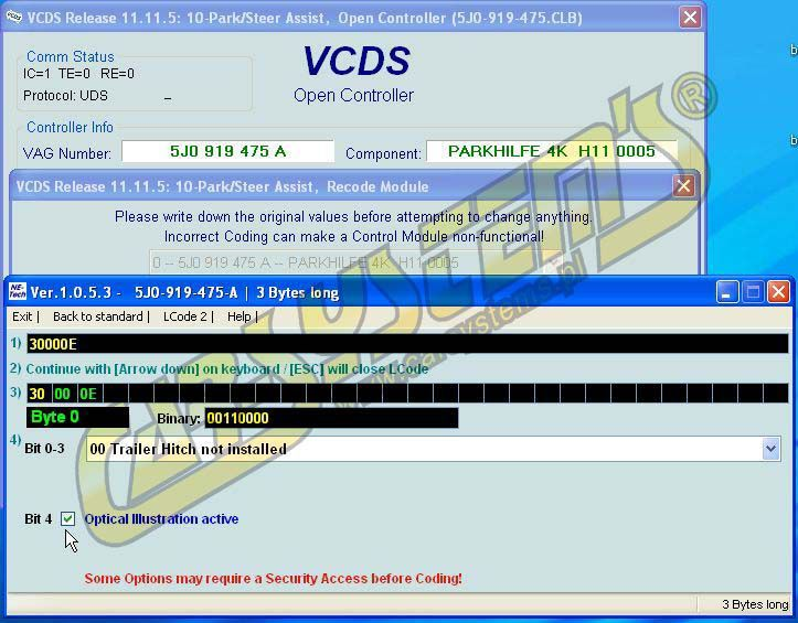 PDC OPS Module 5J0919475 A - Upgrade -