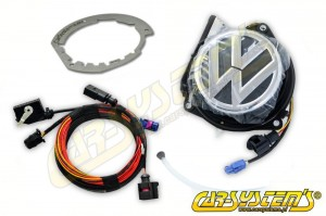 VW Rear Emblem Camera KIT - Retrofit - Polo 6R - 5K0827469AQ ULM + Adapter