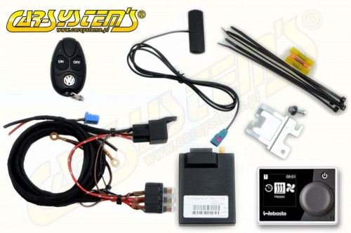 VW Transporter T5 without AC / Climatic - Telestart T91 + Timer Upgrade KIT - Engine Heater -> Parking Heater - 9012104D