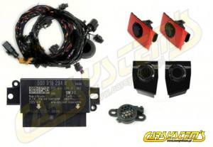Audi A3 8V - APS+ Audi Parking System - Front UPGRADE KIT w. OPS  - Black Gloss Sensor Holder - 5Q0919294B
